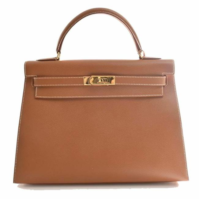 Item - Kelly 32 Kushbel Brown Courchevel Leather Satchel