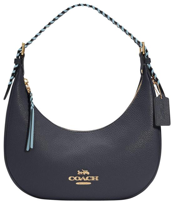 Item - Hobo Bailey with Whipstitch Midnight/Waterfall Multi Leather Shoulder Bag