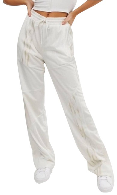 Item - White Danielle Cathari Deconstructed Track Activewear Bottoms Size 12 (L, 32, 33)