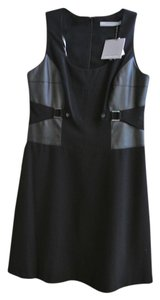 Marc New York Smart Stylish Knee Length With Faux Leather Detail Inset At The Waist Dress