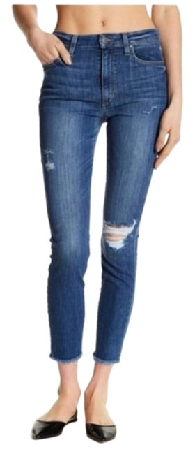 Item - Blue Distressed High Rise Skinny Ankle Penelope Capri/Cropped Jeans Size 27 (4, S)