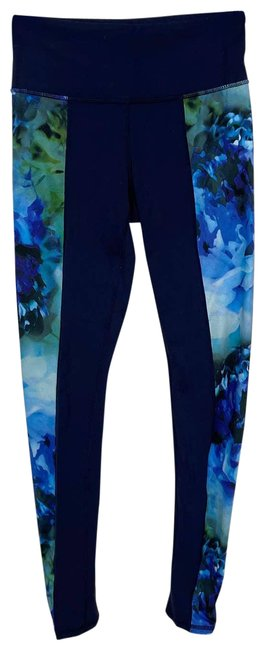 Item - Blue XS High Rise Bloom Chaturanga Floral Yoga Activewear Bottoms Size 2 (XS, 26)