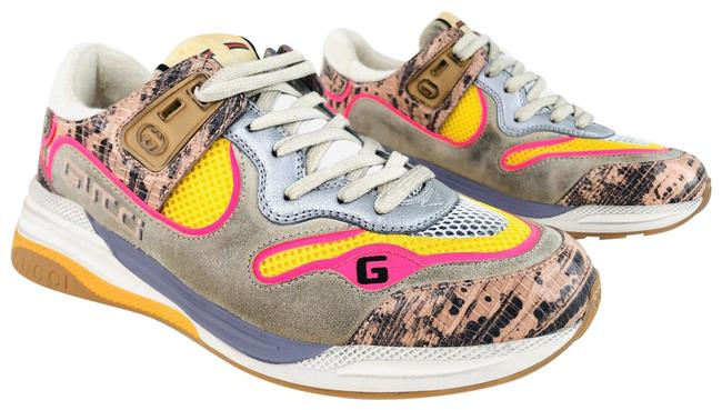 Item - Pink Ultrapace Ace Snake Leather Distressed Suede 592348 Sneakers Size EU 37.5 (Approx. US 7.5) Regular (M, B)