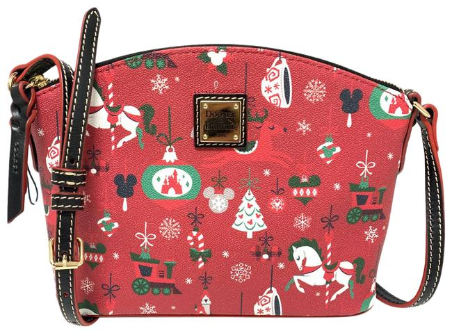 Item - Holiday Yuletide Red Christmas Parks Leather Cross Body Bag