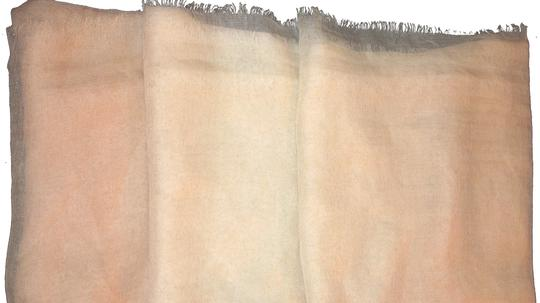 Other Tan and White Solid #105 Pashmina Cashmere/Silk