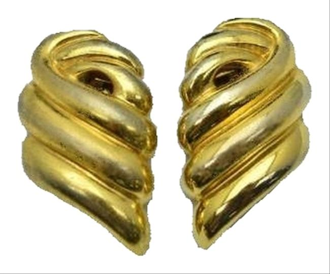Givenchy Gold Vintage Rare Goldtone Earrings Givenchy Gold Vintage Rare Goldtone Earrings Image 1