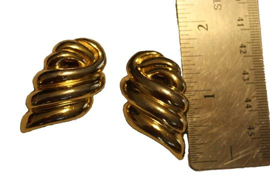 Givenchy Vintage, Rare Givenchy Goldtone Earrings Image 1