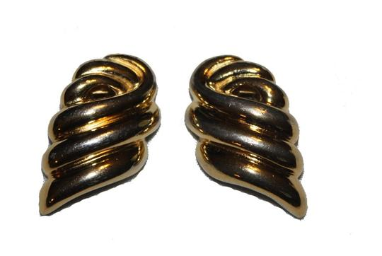 Givenchy Vintage, Rare Givenchy Goldtone Earrings Image 3