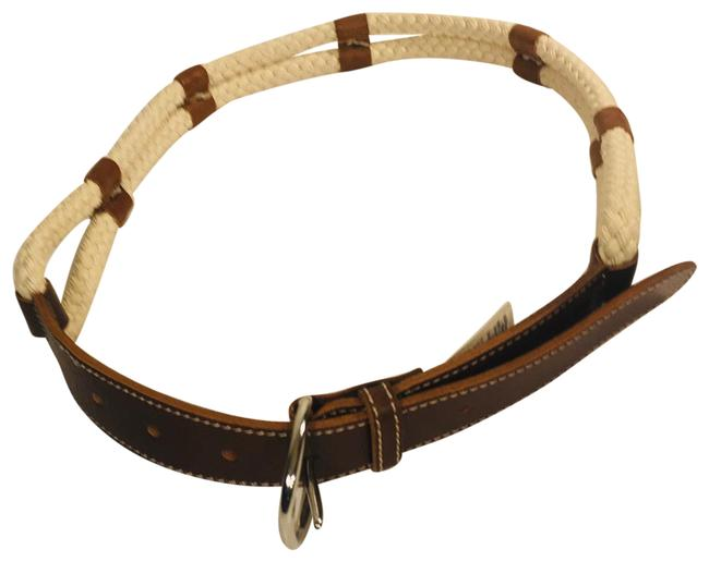 Item - Brown Braided Rope Leather Belt
