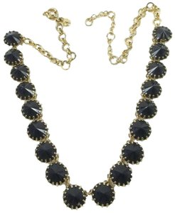 J.Crew J. Crew Goldtone Dark Blue Stones Necklace