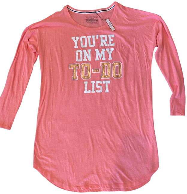 Item - Coral Pink Nightgown Tee Shirt Size 8 (M)