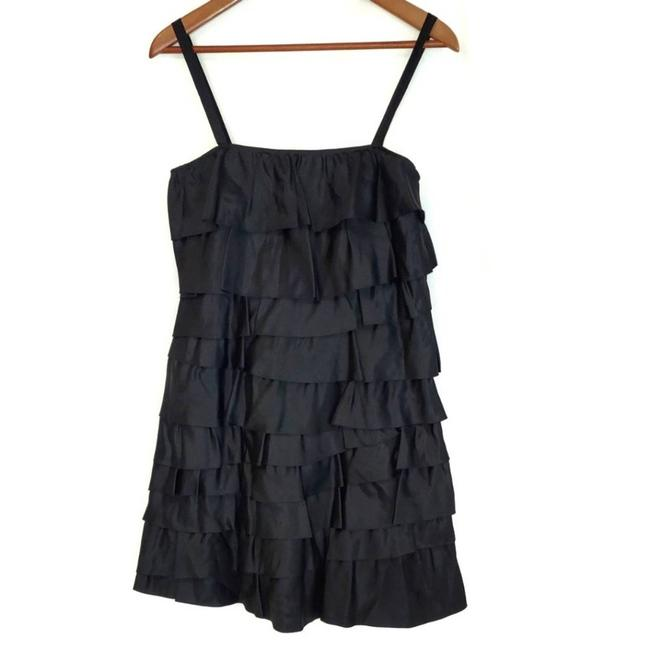 Item - Black Cheap and Chic 2008 Rtw Ruffle Short Casual Dress Size 6 (S)