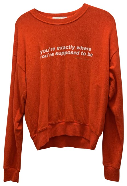 Item - Red You're Exactly Where You're Supposed To Be Activewear Top Size 4 (S)