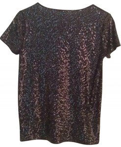 J.Crew Top black sequins