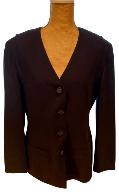 Item - Black Faboulos Wool Front Pinstriped Rayon with Sm Blazer Size 8 (M)