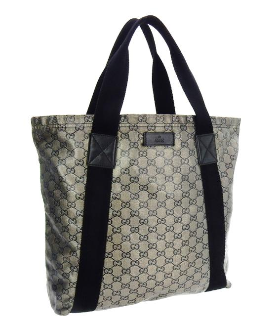 Item - Shopper Shoulder Top Handle Soft Black and Gray Glitter Gg Monogram Crystal Canvas Leather Tote