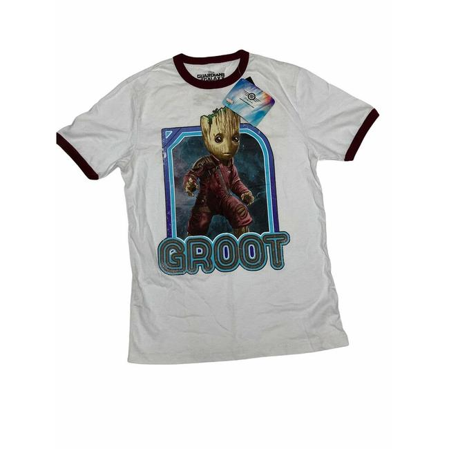 Item - White Hot Topic Guardians Of The Galaxy Vol 2 Groot Graphic Tee Shirt Size 6 (S)