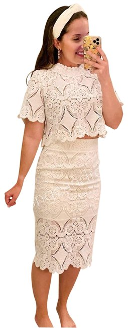 Item - White New Lace Skirt Top Set Cocktail Dress Size 6 (S)