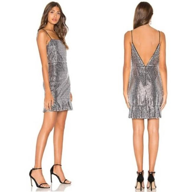 Item - Silver Sequin Mini Night Out Dress Size 2 (XS)