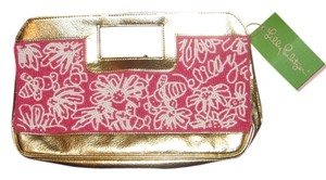 Lilly Pulitzer Beaded pink and white Clutch