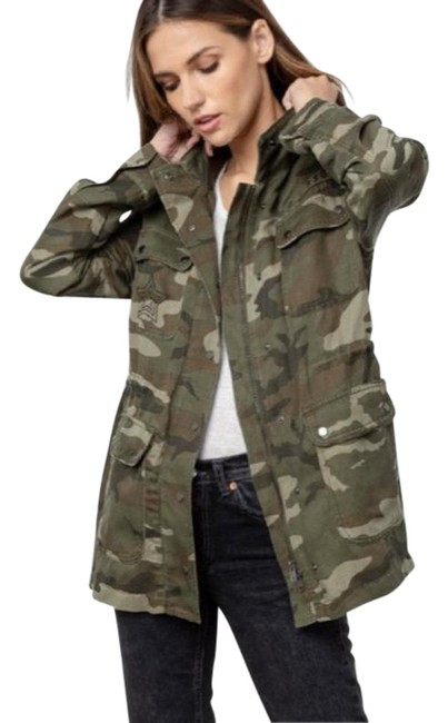 Item - Green Cole In Jungle Camo Jacket Size 6 (S)