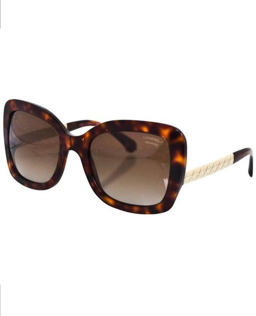 Item - Brown Tortoise and Gold Trim 5370 Square Butterfly Polarized Sunglasses