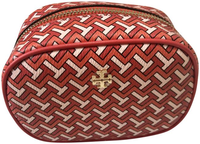 Item - Red Pouch Tzag Allover Cosmetic Bag