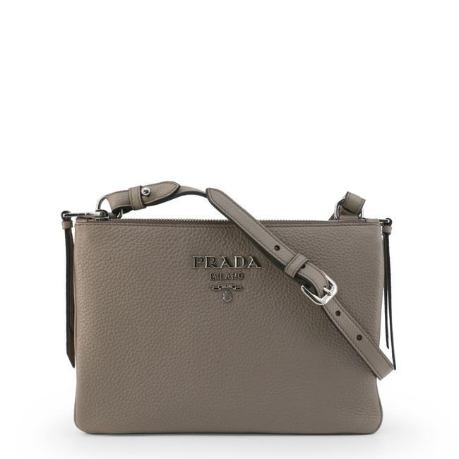 Item - Clutch New Large Grey Leather Cross Body Bag