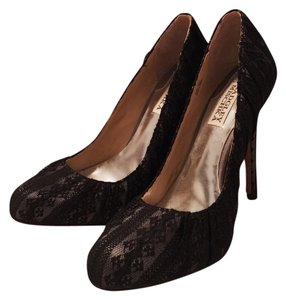 Badgley Mischka Black, Lace Pumps