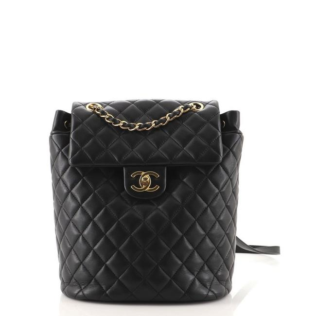 Item - Urban Spirit Quilted Lambskin Small Black Leather Backpack