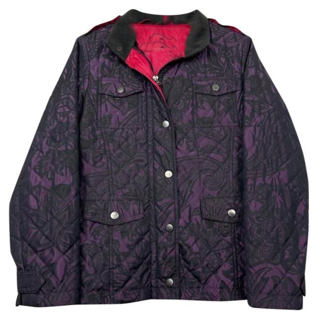 Item - Purple Paisley Printed Quilted Coat Size 10 (M)