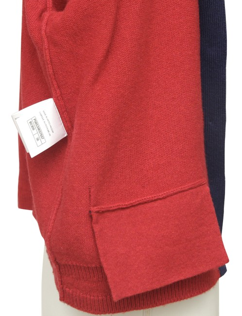 Chanel Red Cashmere Sweater Knit Navy Pockets V-neck 38 Cardigan Size 6 (S) Chanel Red Cashmere Sweater Knit Navy Pockets V-neck 38 Cardigan Size 6 (S) Image 8