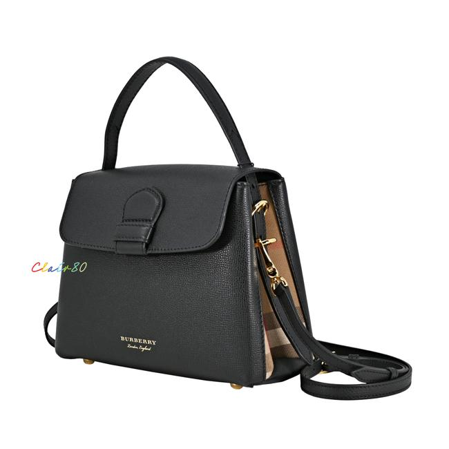 Item - Small Camberley Derby Leather/House Check Black Leather Satchel
