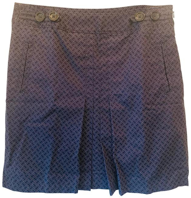 Item - Navy Blue Pleated Skirt Size 6 (S, 28)