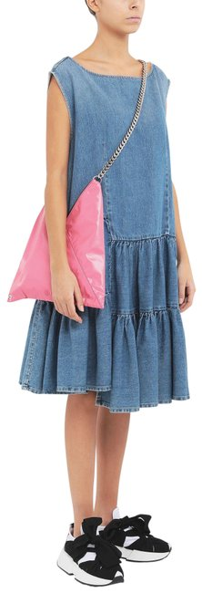 Item - Blue 36fr Tiered Denim Mid-length Casual Maxi Dress Size 6 (S)