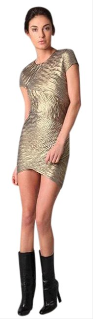 Item - Gold Kaitlyn Short Night Out Dress Size 2 (XS)