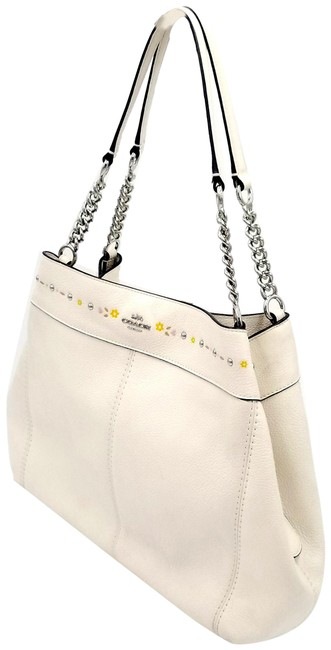 Item - Lexy F25894 with Floral Tooling White Leather Shoulder Bag