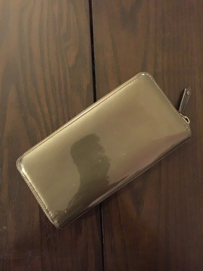 Coach Coach Grey Patent Leather Wallet