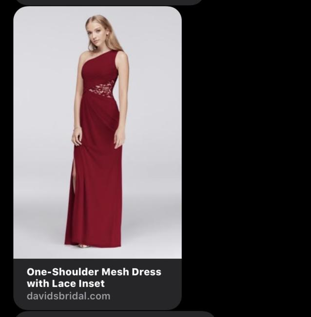 Item - Cinnamon One- Shoulder with Lace Inset Formal Bridesmaid/Mob Dress Size 6 (S)