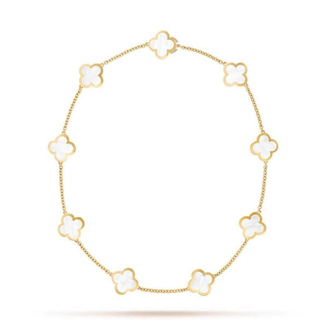 Item - Pure Alhambra Motifs Yellow Gold Mother-of-pearl Necklace
