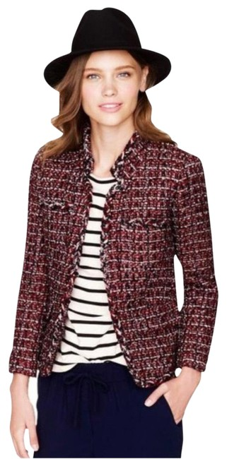 Item - Red and Blue Boucle Blazer Size 2 (XS)