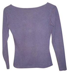 Calvin Klein Longsleeve Scoop Back T Shirt purple