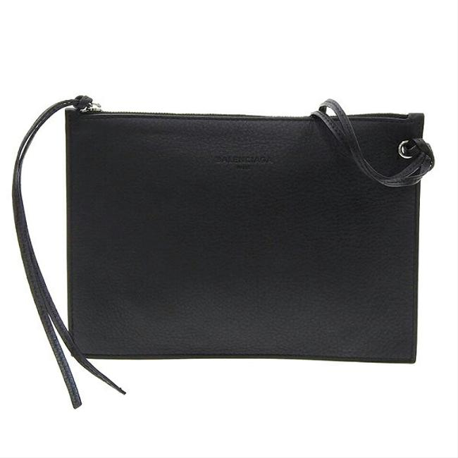 Item - Pouch Case Black Leather Clutch