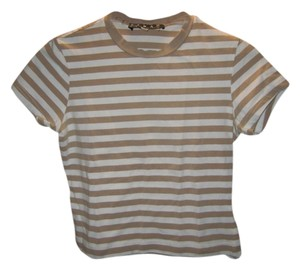 Kenar T Shirt Brown and white stripes
