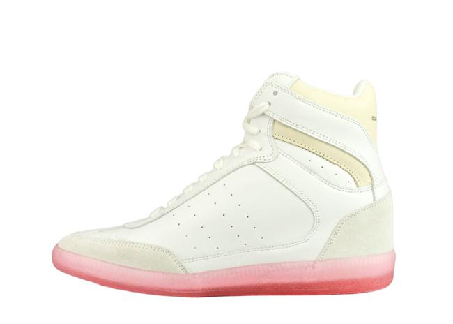 Item - White Pink Bayren High Top Leather Sneakers Size EU 37 (Approx. US 7) Regular (M, B)
