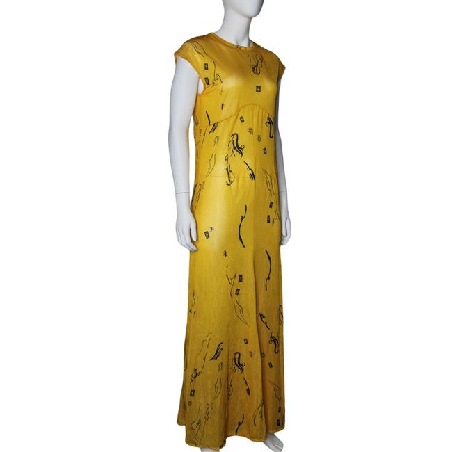 Item - Yellow Long Cocktail Dress Size 4 (S)