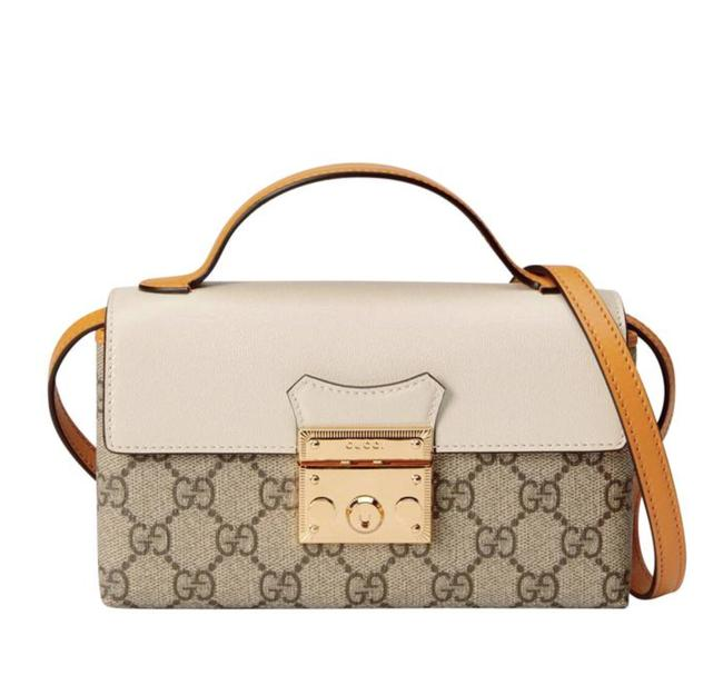 Item - Padlock New Leather Leather Tote Yellow White Gg Supreme Canvas Cross Body Bag