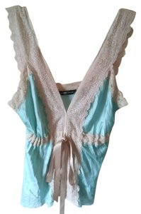 New York & Company Sexy Silky Pastels 3.4 3 Top Mint green,creme