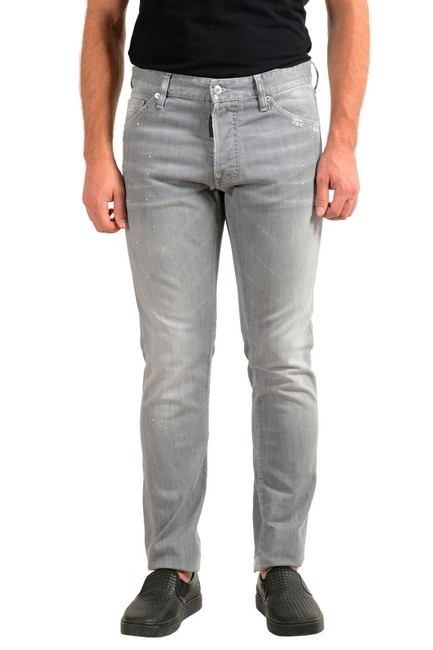 """Item - Gray Dsquared2 Men's Distressed Look """"Cool Straight Leg Jeans Size 36 (14, L)"""