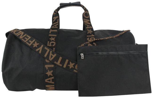 Item - Duffle Roma Star Italy 5 Boston with Strap Pouch 228ff716 Black Canvas Weekend/Travel Bag